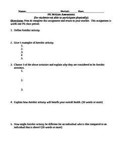 health skill related components of fitness quiz answer