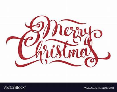Merry Christmas Text Calligraphy Vector Clipart Clipground