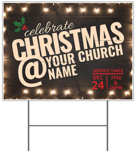 christmas  lights yard sign church banners outreach