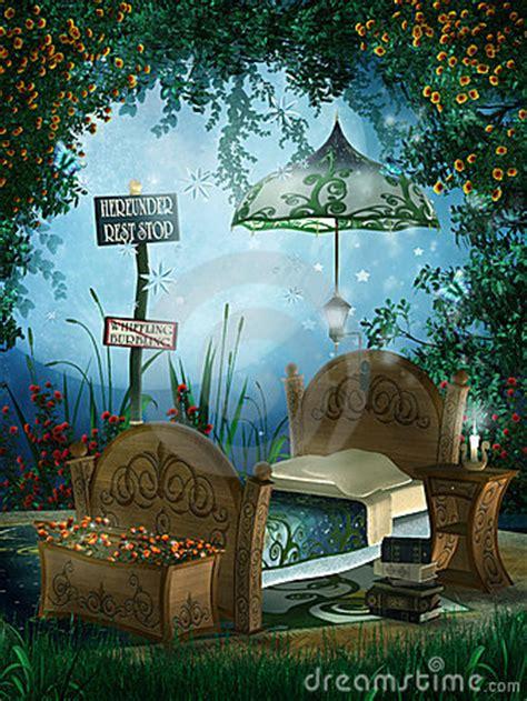 blue fantasy bedroom royalty  stock  image