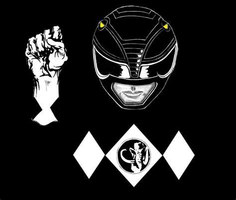 black powerranger ironic artwork  zack taylor