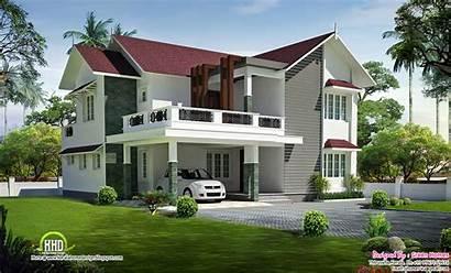 Villa Floor Kerala Bedroom Roof Plans Sloping
