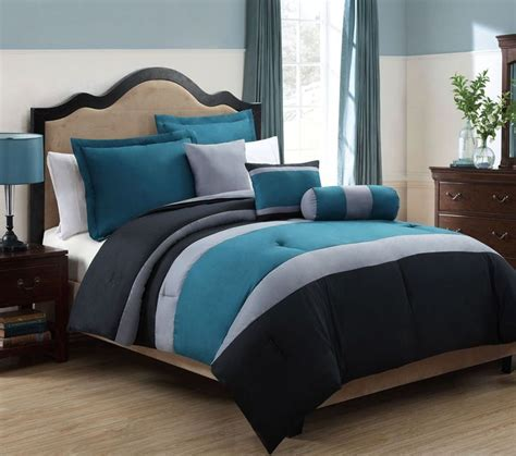 teal color comforter sets tranquil teal and gray comforter set love the colors but judging by the price and material it