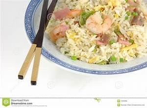 Plate Of Fried Rice And Chopsticks Royalty Free Stock ...