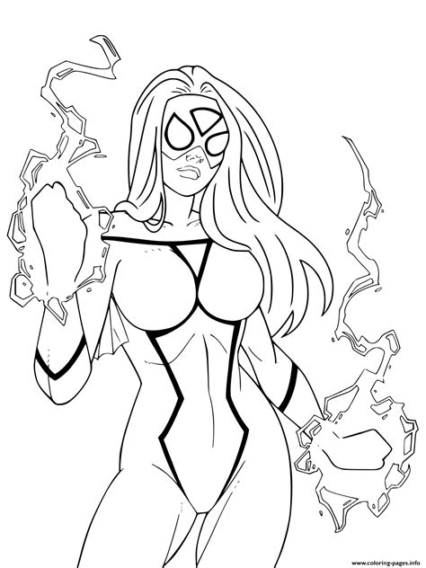 gwen stacy   powers coloring pages printable