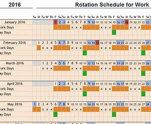 Rotation Schedule For Work Template