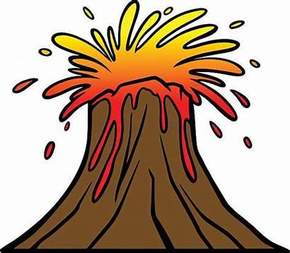 Lava Vector Volcano Flow Illustrations Clip Blast
