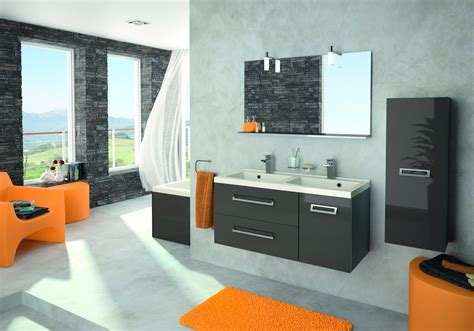 d馗oration cuisine et salle de bain modèle décoration salle de bain jaune et bleu