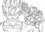 Coloring Pages Goten Super Saiyan Monster Cartoon sketch template