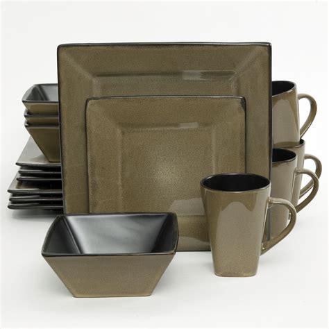 Viereckiges Geschirr by Go107277 16 Western Square 16 Dinnerware Set