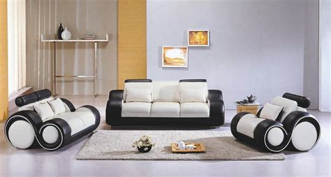 Modern Livingroom Sets 4088 Contemporary Black And White Sofa Set Sofa Sets