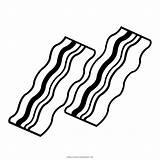 Bacon Desenho Colorir Coloring sketch template