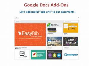 The best google docs add ons for Useful google docs add ons
