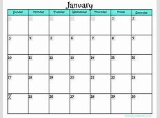 Free Printable Calendar Pages 2016 Calendar Template 2018