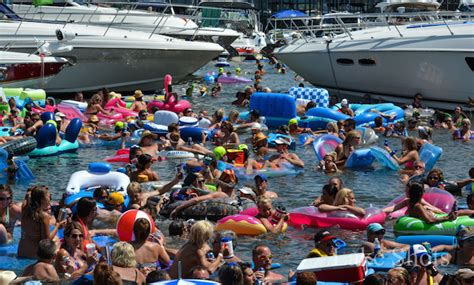 classic rock  floating party  lake   ozarks