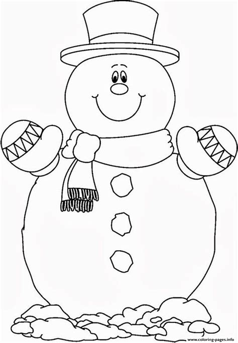 smilling snowman   coloring pages printable