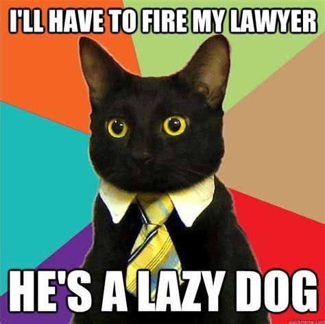 Meme Business Cat - dueling memes lawyer dog vs business cat