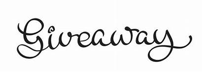 Giveaway Background Vector Text Calligraphy Eps10 Lettering