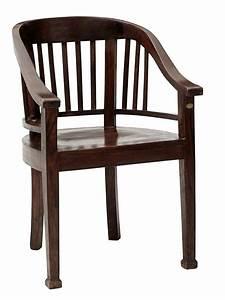 Chaise En Bois Massif : chaise en bois massif avec accoudoirs style colonial helline ~ Teatrodelosmanantiales.com Idées de Décoration