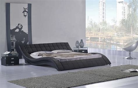 california king bed frame with wavy black low profile platform bed