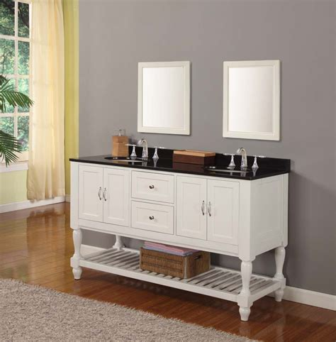 mission style double bathroom vanity sink console