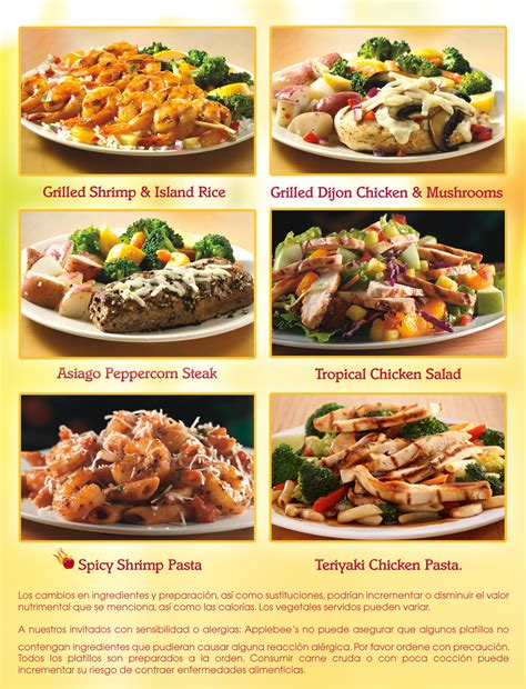 applebee s light menu applebee s menu