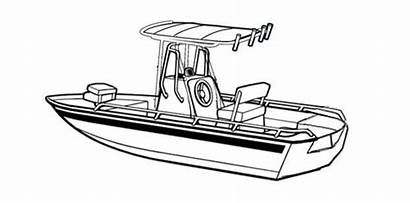 Boat Fishing Console Center Hull Drawing Line