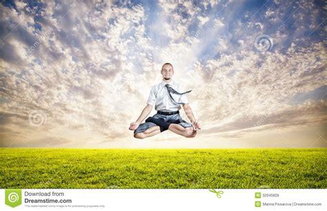 business yoga levitation royalty  stock images image