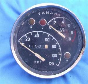 Vintage Yamaha Speedometer Tachometer Gauge 1966 Yds5   Yamaha This Is Now For Sale On