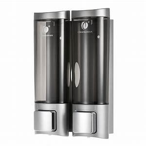 Soap Shower Dispenser 2 Chamber Refillable Pump Shampoo