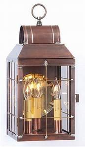 colonial lantern entry light antique copper handcrafted in With exterior lighting fixtures made in usa