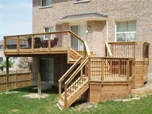 Two Story Deck Ideas by Non Standard Cascading 2nd Story Deck Deck Building