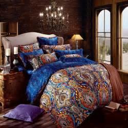 Blue Bohemian Bedding