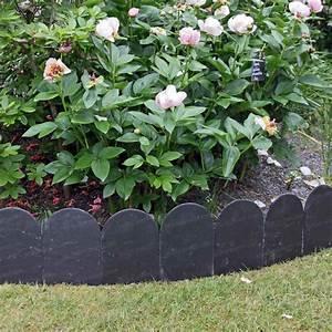 Bordure De Jardin : bordure pierre ardoise arrondie 20x30cm lot de 5 1m ~ Melissatoandfro.com Idées de Décoration