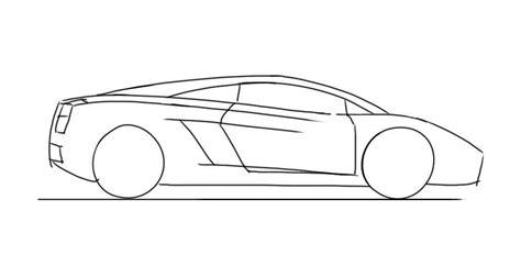 lamborghini sketch side how to draw a lamborghini gallardo junior car designer