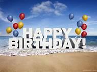 Happy Birthday Beach Graphics