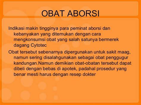 Apotek Obat Aborsi Identifikasi Obat