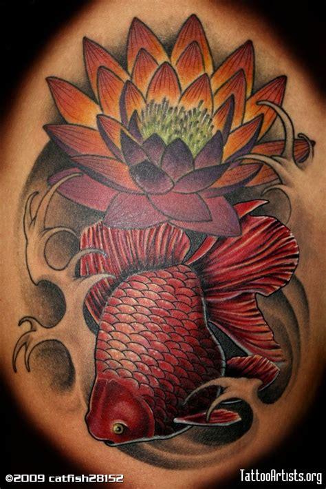 asian style lotus tattoo