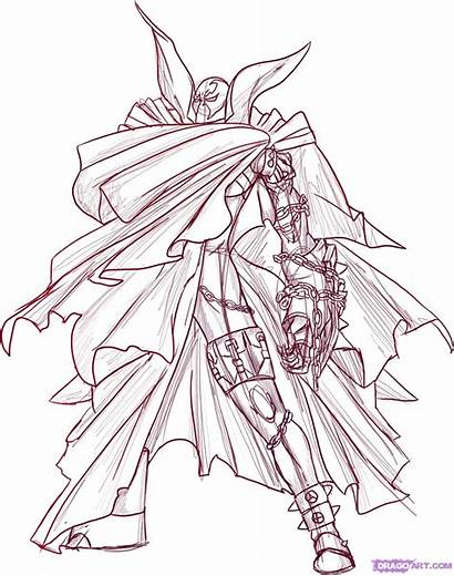 Spawn Draw Step Drawing Comic Characters Sketch