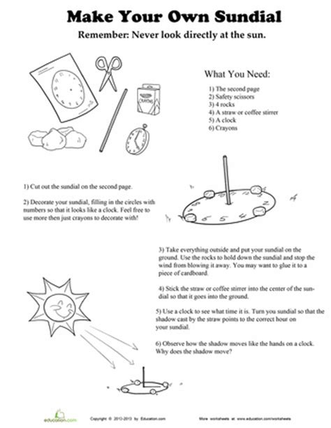make your own sundial solar system homeschool
