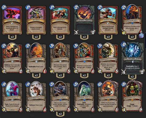 hearthstone top decks september 2017 hearthstone top decks patron warrior wroc awski