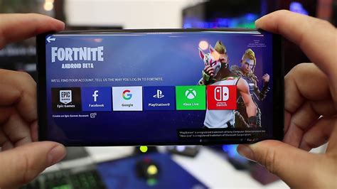 fortnite  android galaxy note  gameplay footage