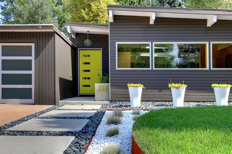 modern landscape garden grey elements freshome simple