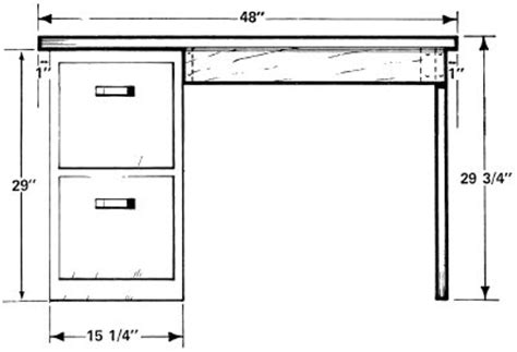 Desk File Cabinet Dimensions by How To Build A Desk How To Build A Desk Howstuffworks