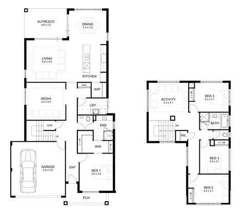 Four Bedroom House by Storey 4 Bedroom House Designs Perth Apg Homes