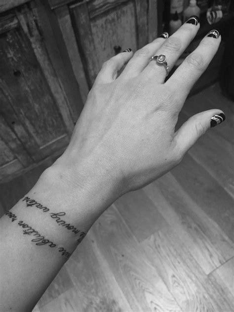 script tattoo   wrist  actress singer abbie