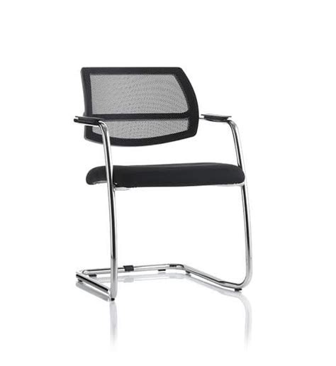 sled chair with metal structure for waiting room idfdesign