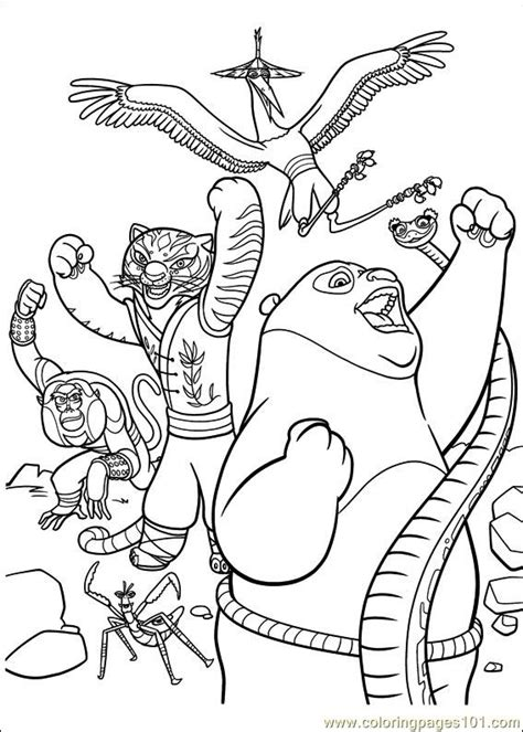 kung fu panda  coloring pages minister coloring