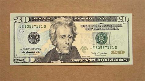 20 Us Dollars Banknote (twenty Us Dollars / 2009), Obverse
