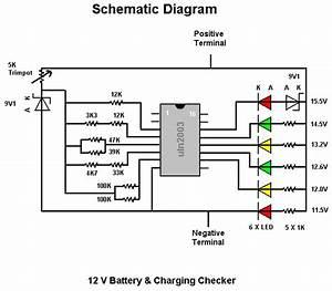 Battery Tester Wiring Diagram : 12v battery level indicator for car batteries cdiagram ~ A.2002-acura-tl-radio.info Haus und Dekorationen